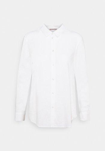 Linen Shirt - Button-down blouse - white