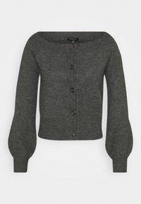 Who What Wear - OFF THE SHOULDER CARDIGAN - Cardigan - dark heather grey - 4