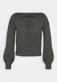 OFF THE SHOULDER CARDIGAN - Kardigan - dark heather grey