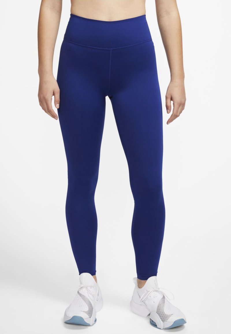 Nike Performance - ONE LUXE - Tights - deep royal blue/noble red