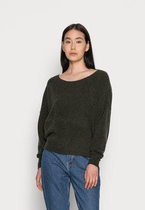 DAMSVILLE - Stickad tröja - pesto melange
