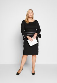 Anna Field Curvy - Jersey dress - black/white - 1