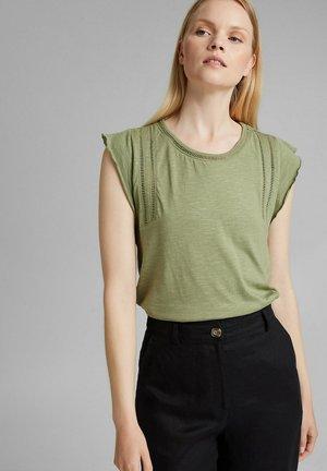 TEE LADDER - Print T-shirt - light khaki