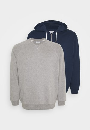 SET - Zip-up hoodie - dark blue/mottled grey