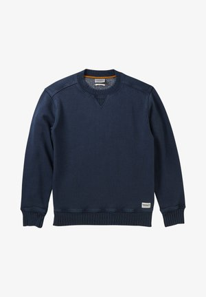LAMPREY RIVER GARMENT DYE CREW NECK - Sweatshirt - dark sapphire
