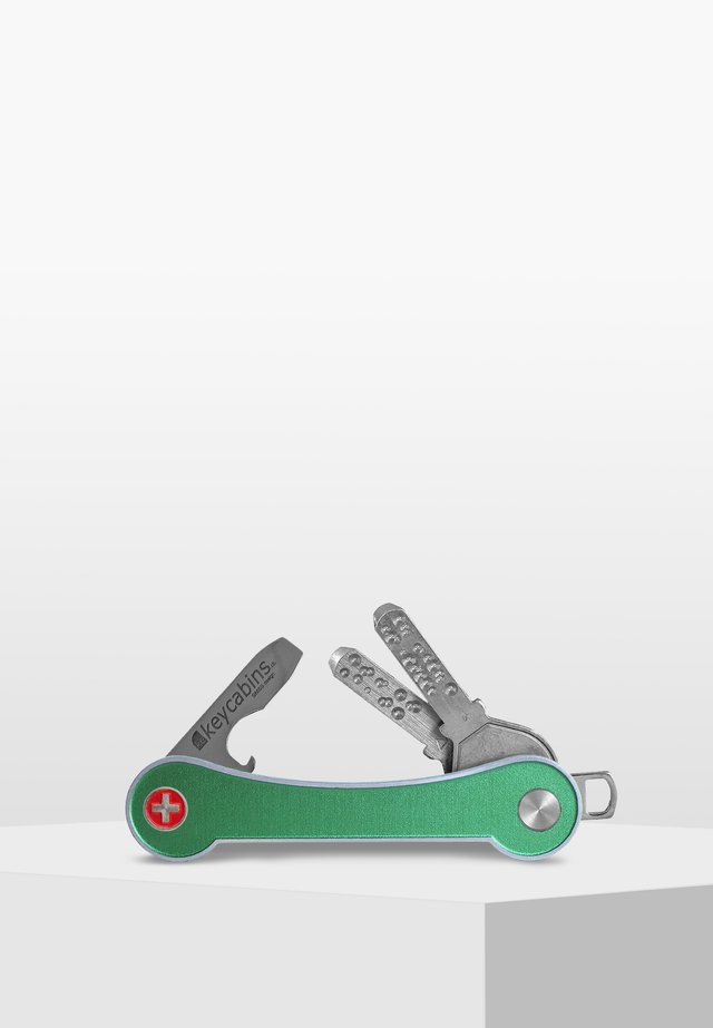 SWISS  - Keyring - green light-frame