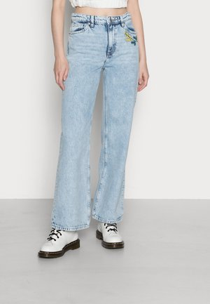 YOKO EMBROIDERY - Relaxed fit jeans - light blue embroidery