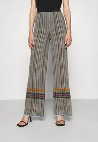 M Missoni - TROUSERS - Trousers - grey/orange - 0
