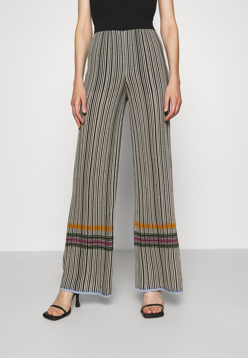 M Missoni - TROUSERS - Trousers - grey/orange