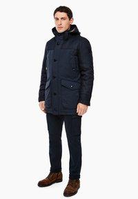 s.Oliver - IM FABRIC MIX - Winter coat - dark blue - 1
