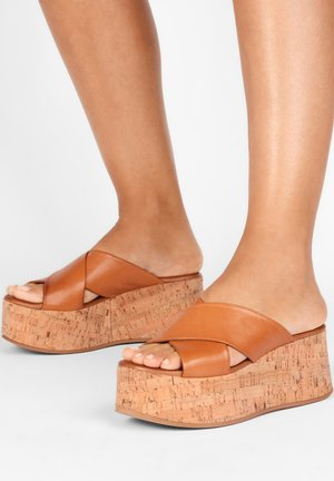 Heeled mules - coconut ccn