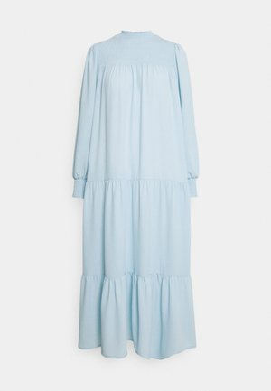 MODESTY SMOCKED HIGHNECK MAXI DRESSES WITH LONG SLEEVES - Maxi dress - blue