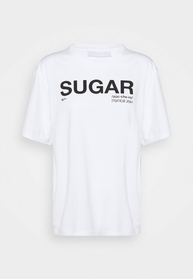 SUGAR - T-shirt imprimé - white/black