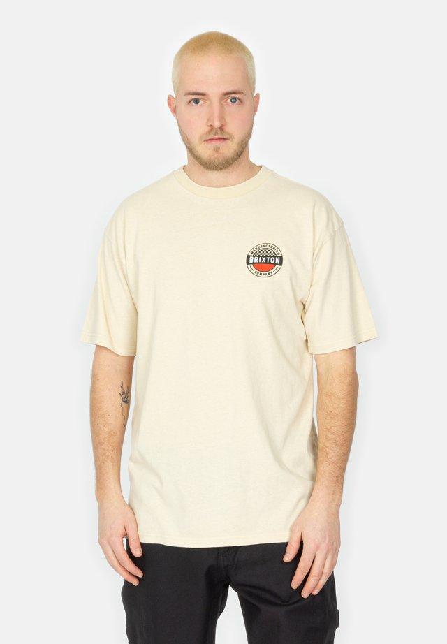 TERMINAL - T-shirt con stampa - worn wash cream