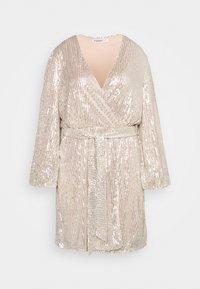 Glamorous Curve - VNECK WRAP DRESS - Cocktail dress / Party dress - nude/silver - 0