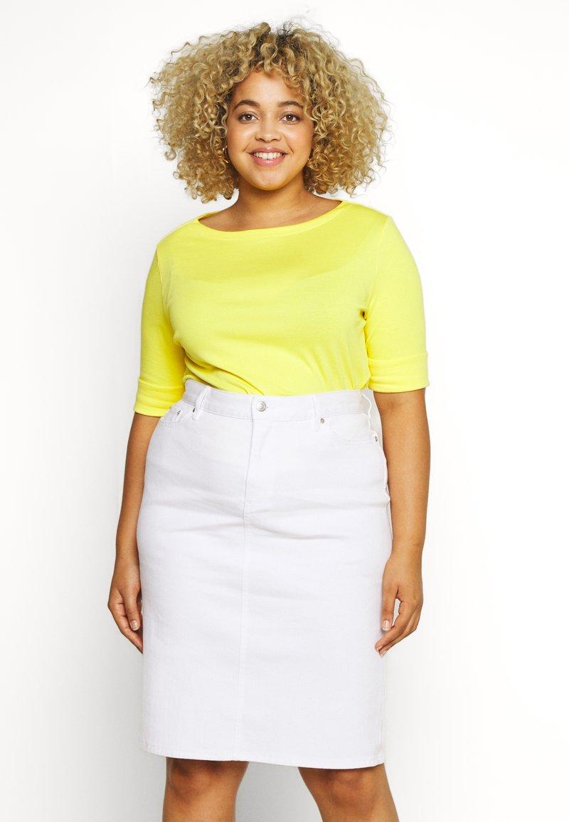 Lauren Ralph Lauren Woman - JUDY ELBOW SLEEVE - Basic T-shirt - hampton yellow