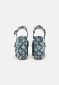 Guess - RION - Platform sandals - denim - 3