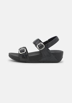 LULU GLITTER ADJUSTABLE BACK-STRAP - Korkeakorkoiset sandaalit - black