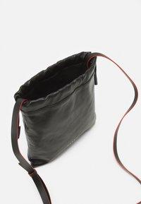 Marni - MUSEO SOFT DRAWSTRING - Across body bag - black/navy blue - 2
