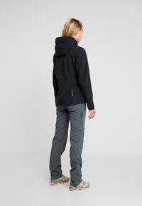 CMP - WOMAN JACKET ZIP HOOD - Softshelljakke - nero