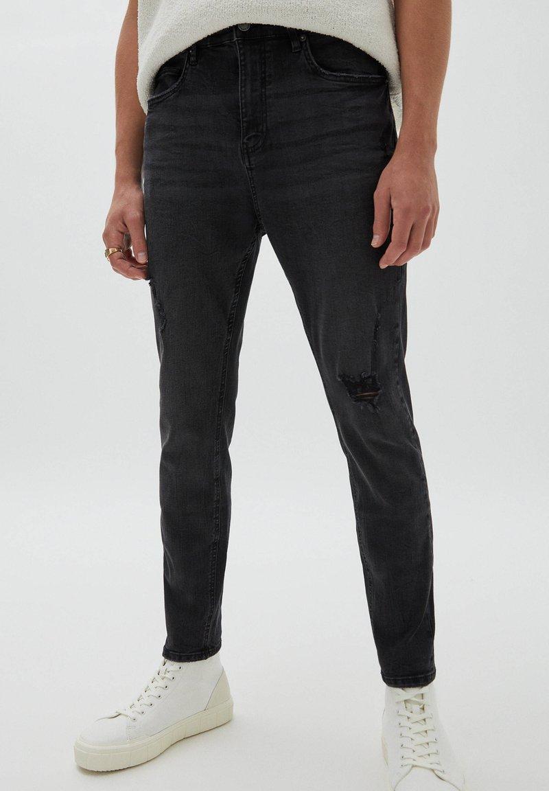 PULL&BEAR - Jeans slim fit - mottled black