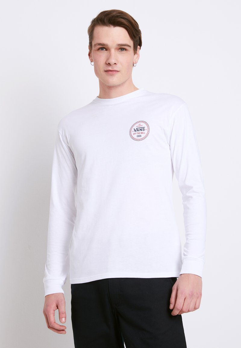 Vans - MN CHECKER 66 LS - Long sleeved top - white
