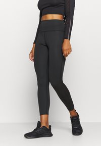 South Beach - SIDE PANEL LEGGING - Medias - black - 0
