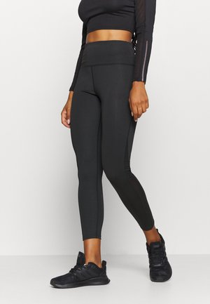 SIDE PANEL LEGGING - Legginsy - black