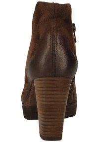 Paul Green - STIEFELETTE - High heeled ankle boots - dunkelbraun - 4