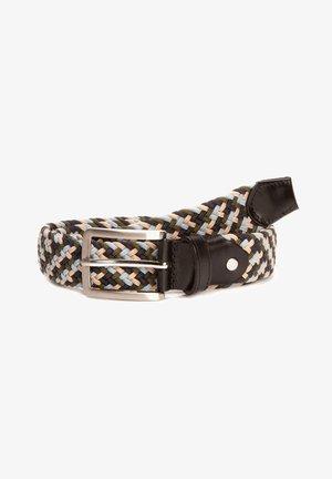 Braided belt - blau/beige