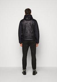 EA7 Emporio Armani - GIUBBOTTO - Leather jacket - black - 2