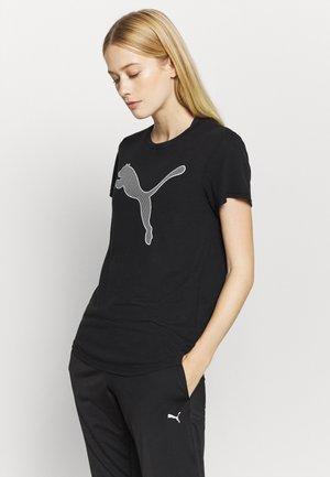 EVOSTRIPE TEE - T-shirt med print - black