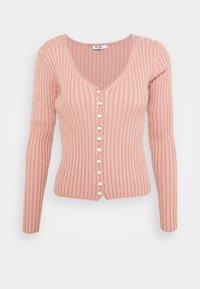 DETAILED CARDIGAN - Cardigan - dusty pink