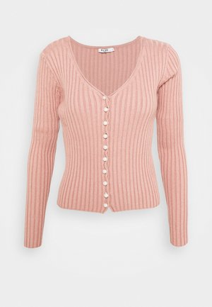 DETAILED CARDIGAN - Cardigan - dusty pink