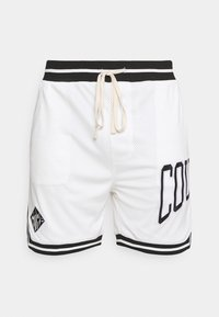 The Couture Club - VARSITY BADGED MESH DROP CROTCH SHORTS - Shorts - off white - 4