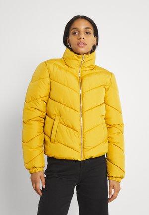 Kurtka zimowa - light gold zip