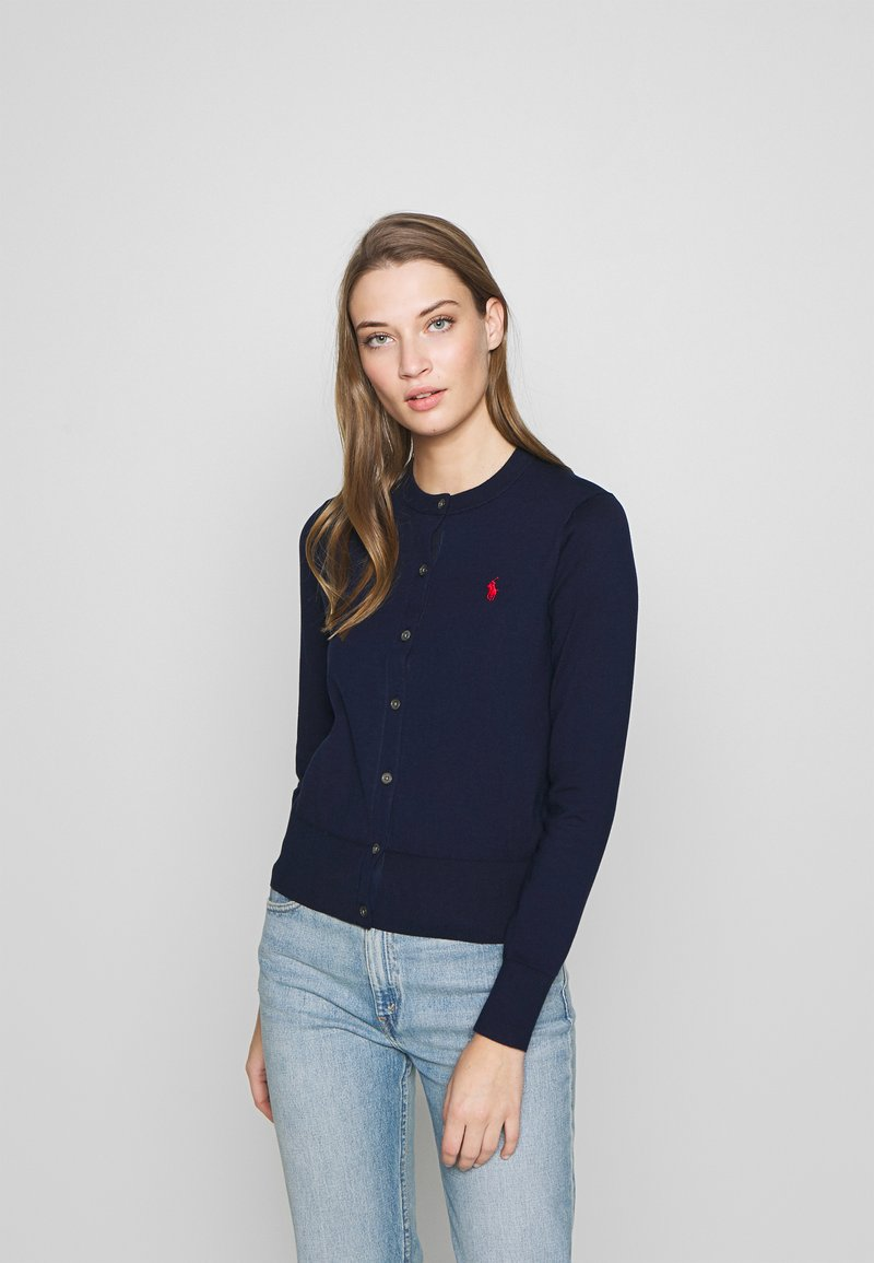 Polo Ralph Lauren - CARDIGAN LONG SLEEVE - Chaqueta de punto - bright navy