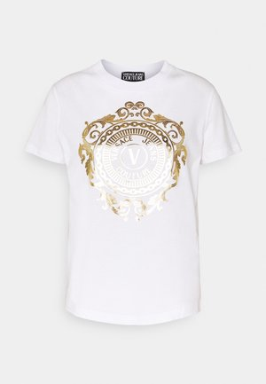 T-shirt imprimé - optical white/gold