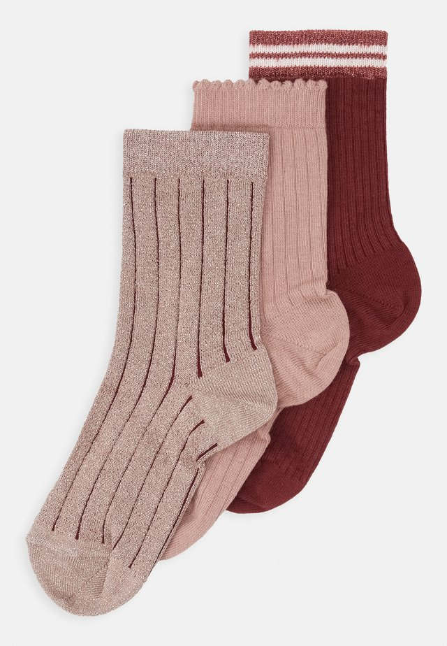ANKLE ABBY 3 PACK - Socks - multi red