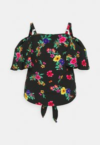 Simply Be - COLD SHOULDER KNOT FRONT TOP - Camicetta - tropical - 1