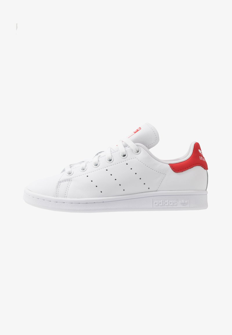adidas Originals - STAN SMITH - Sneaker low - footwear white/lush red