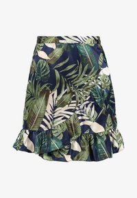 Vero Moda - VMLEAVES FRILL SKIRT - Wrap skirt - night sky - 4