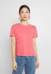 Tommy Jeans - TJW SOFT TEE - T-shirt imprimé - botanical pink - 0
