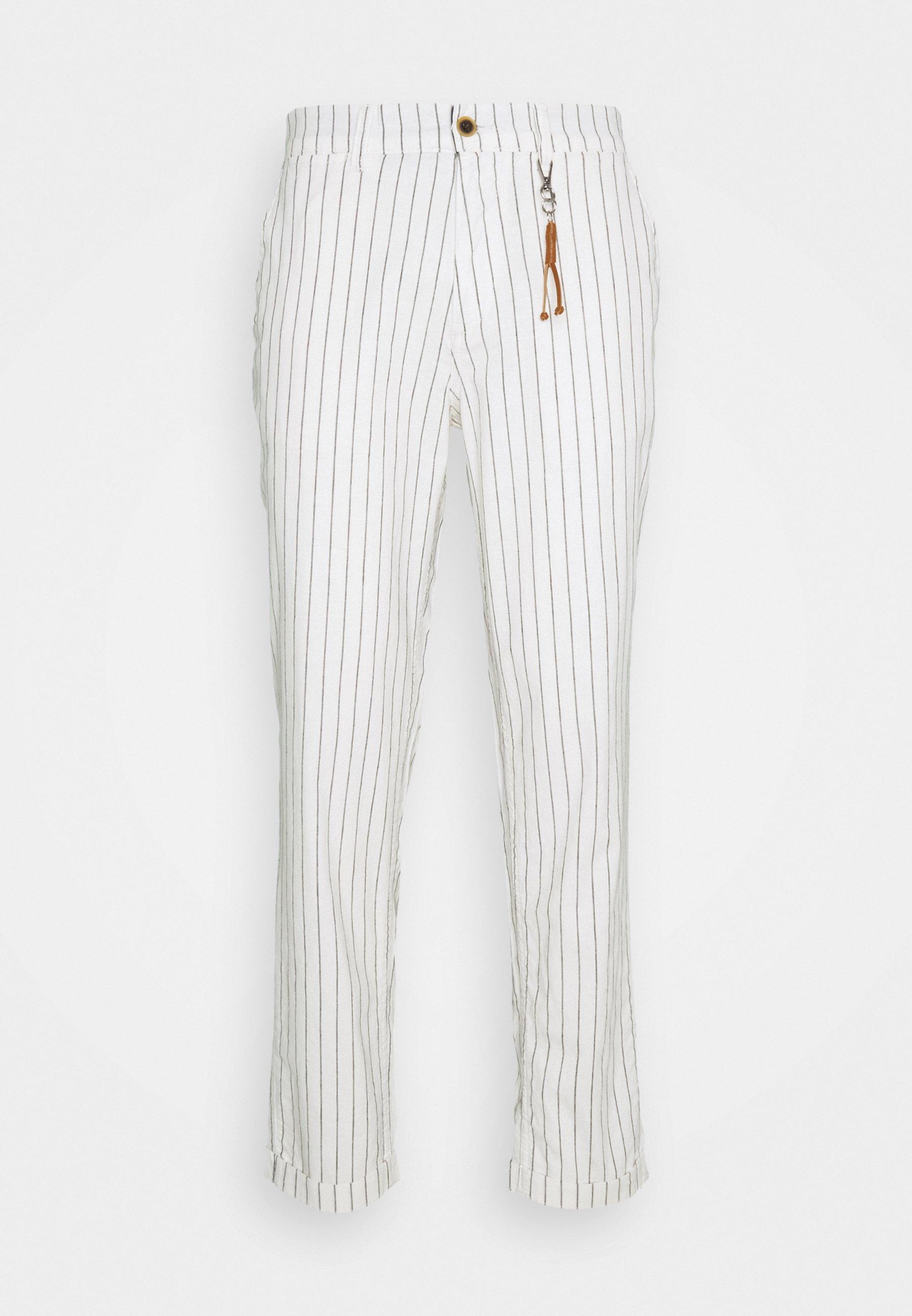Homme JJIACE JJLINEN PINSTRIPE - Pantalon classique
