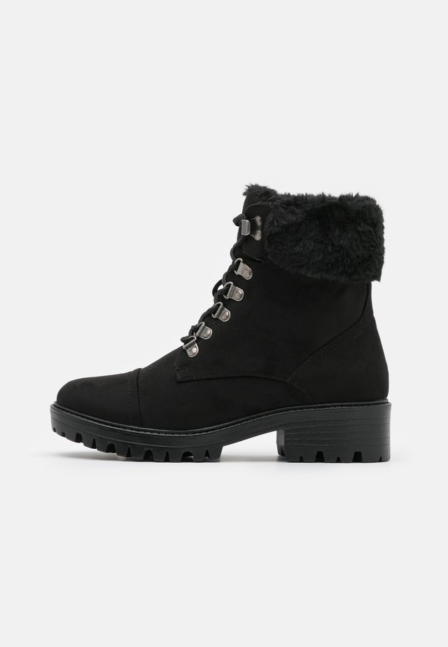 MILLS CUFF HIKER BOOT - Lace-up ankle boots - black