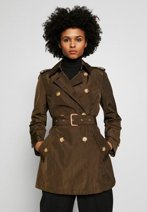 FAUX MEMORY SOFT TAFFETA TRENCH - Trenchcoat - new army