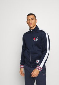 Champion - ROCHESTER RETRO BASKET FULL ZIP - Kurtka sportowa - dark blue/white - 0