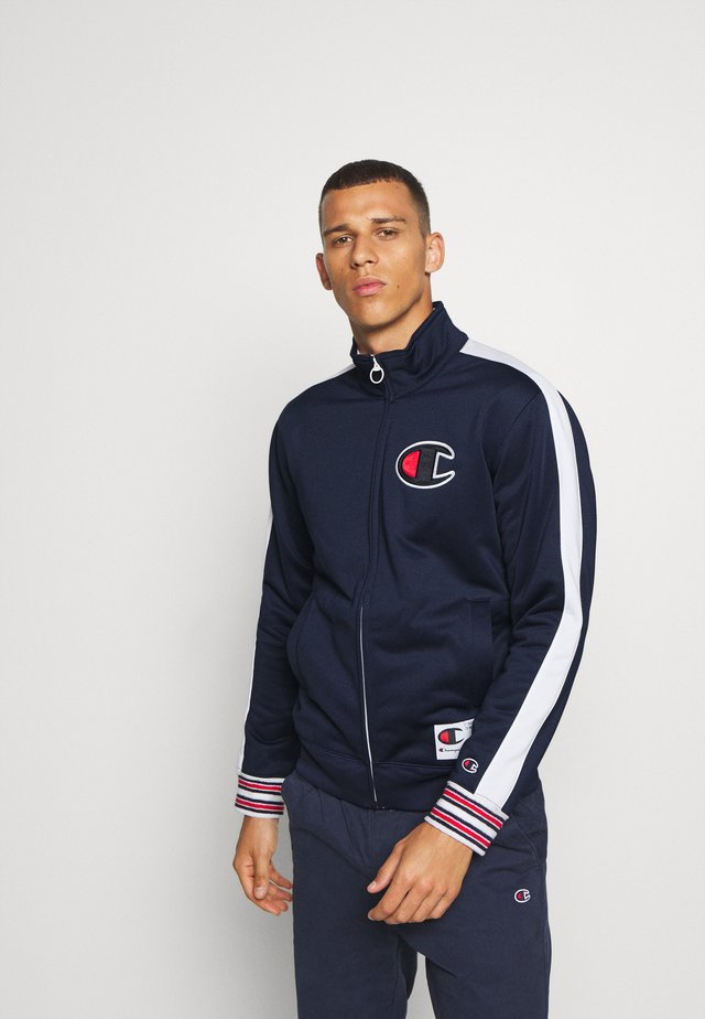 ROCHESTER RETRO BASKET FULL ZIP - Veste de survêtement - dark blue/white