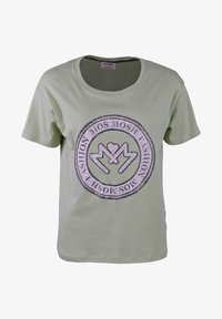 Mos Mosh - Print T-shirt - gr眉n/petrol - 0