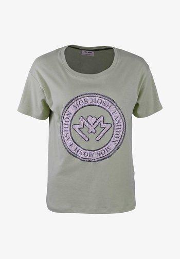 Print T-shirt - gr眉n/petrol